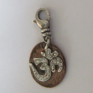 Silpada Om copper sterling silver charm C2602 925
